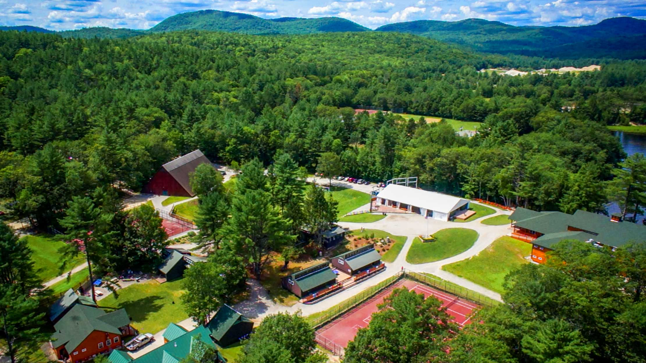 Aerial of Camp Kenwood and Evergreen