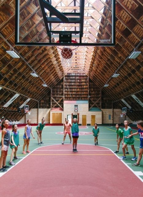 Girls basketball indoors