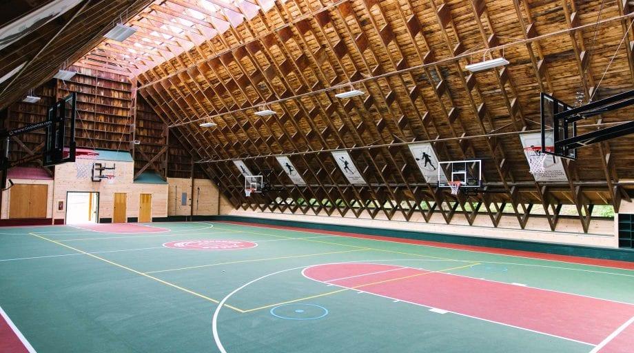 Interior of hockey building