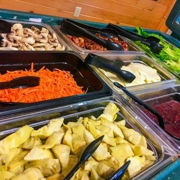 Salad bar vegetables