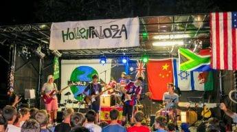 Band playing at Hallowpalooza