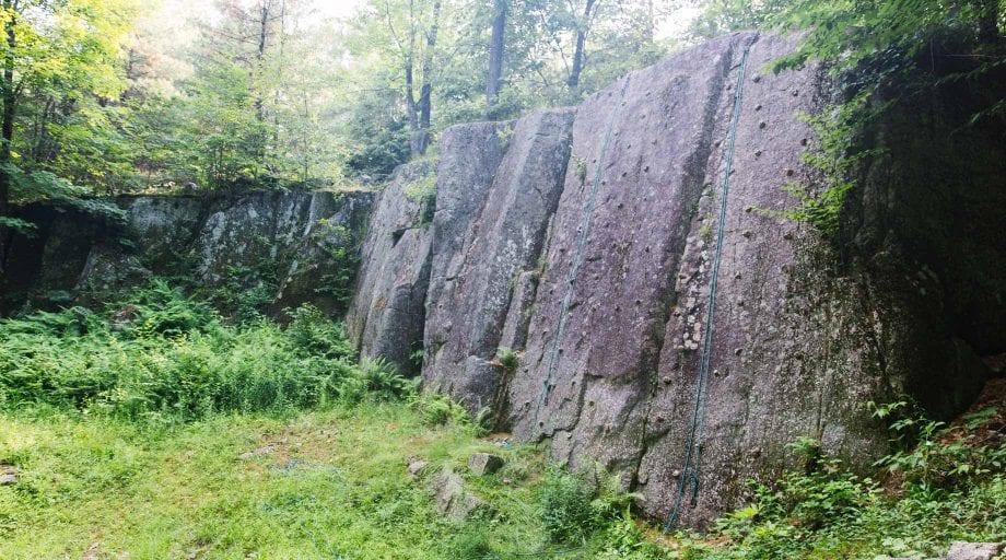 Granite climbing wall