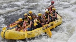 White water rafting with Adventure Bound