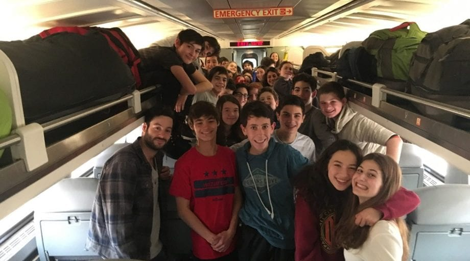 Flying to camp reunion