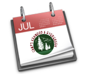 summer camp important events calendar